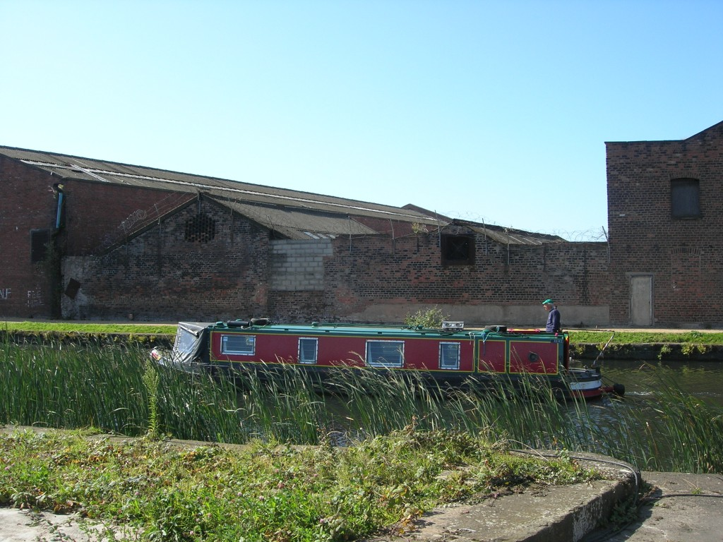 a barge on the Leeds-Liverpool Canal (at Bank Hall)