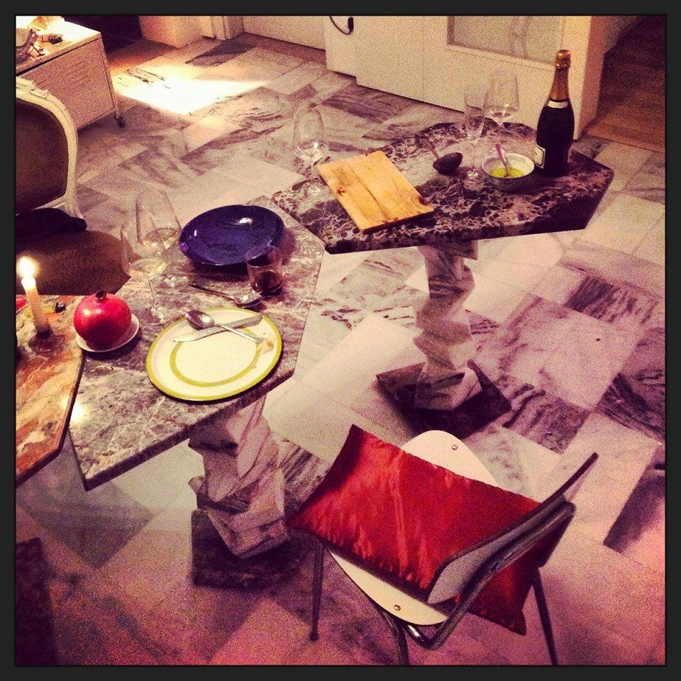 Reclaimed marble table, collection Alpi (Giacomo Ravagli)