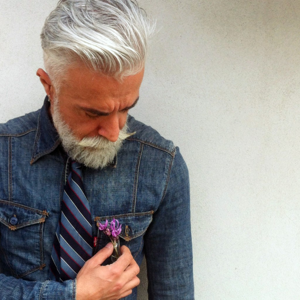 Alessandro Manfredini with Boutonnière