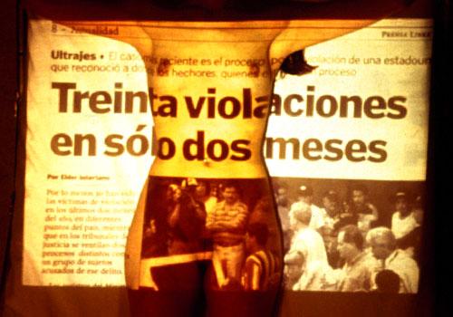 el dolor en un pañuelo, 1999, Marvin Olivares
