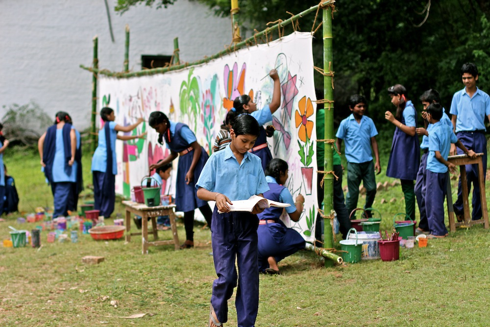 Action Painting Project Padhar Mission School