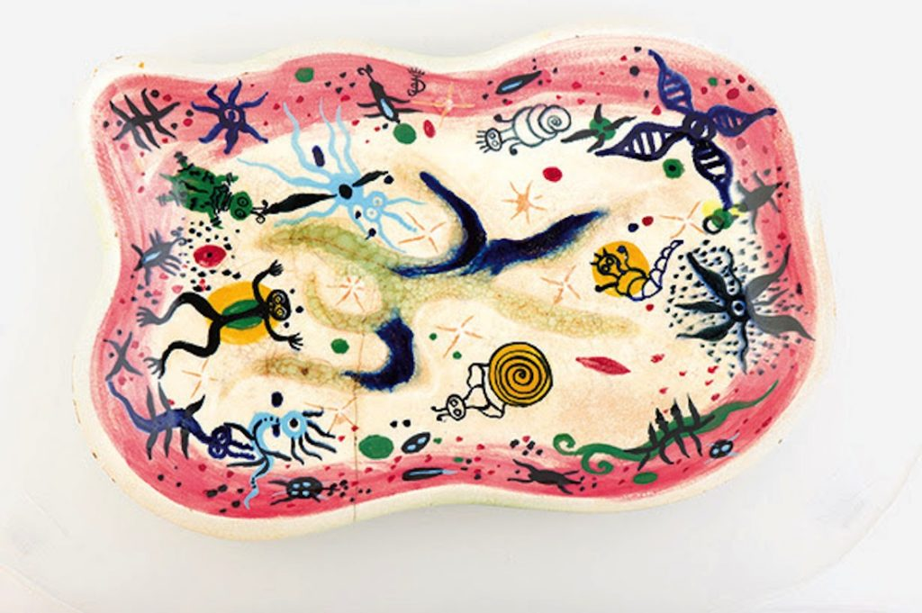Julio de Diego, River Patterns (platter)