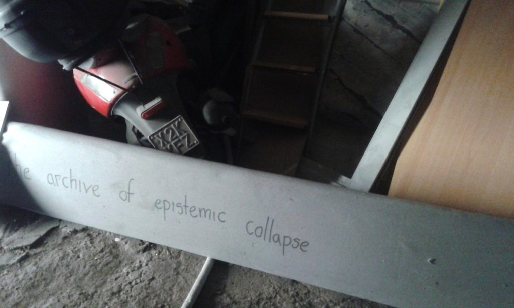 The Archive of epistemic collapse