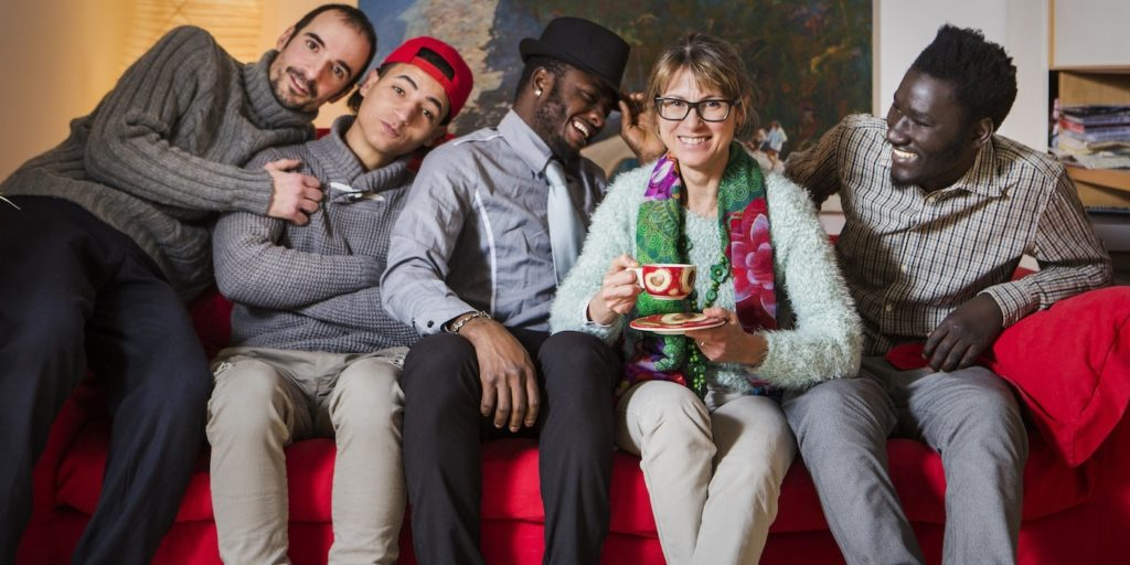 Maria Cristina Visioli con i suoi ospiti