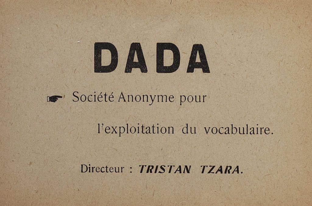 Tristan Tzara, Dada Butterfly