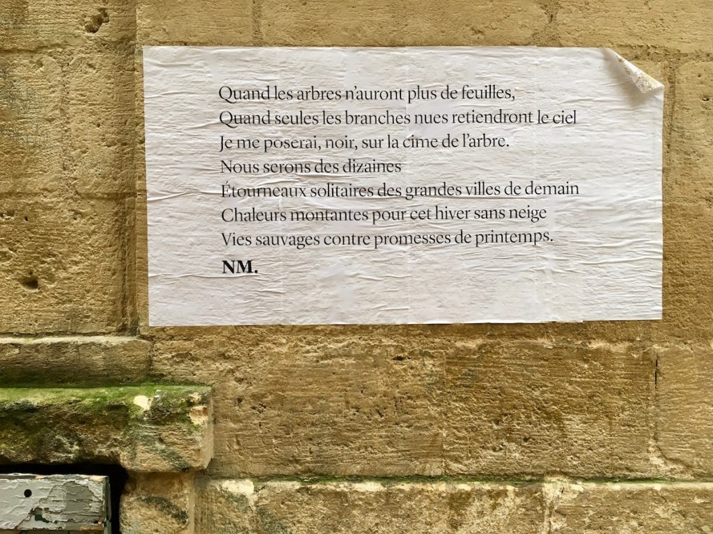 wall poetry in Bordeaux
