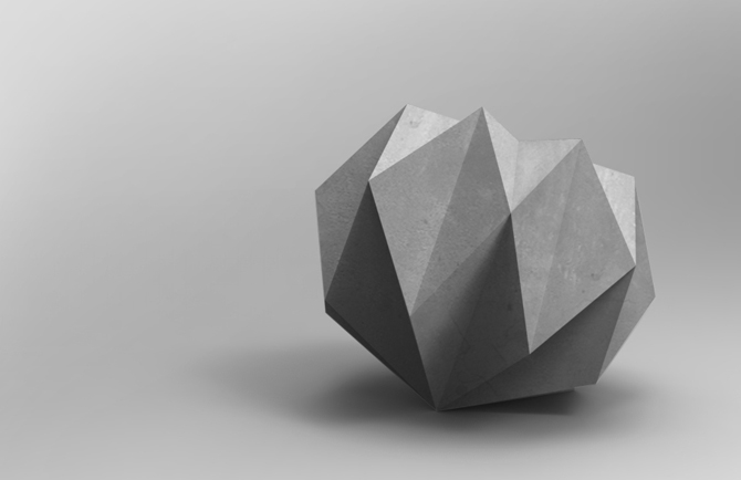 Rok, concrete paperweight