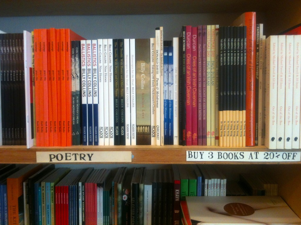 poetry section at Books Actually, Singapore