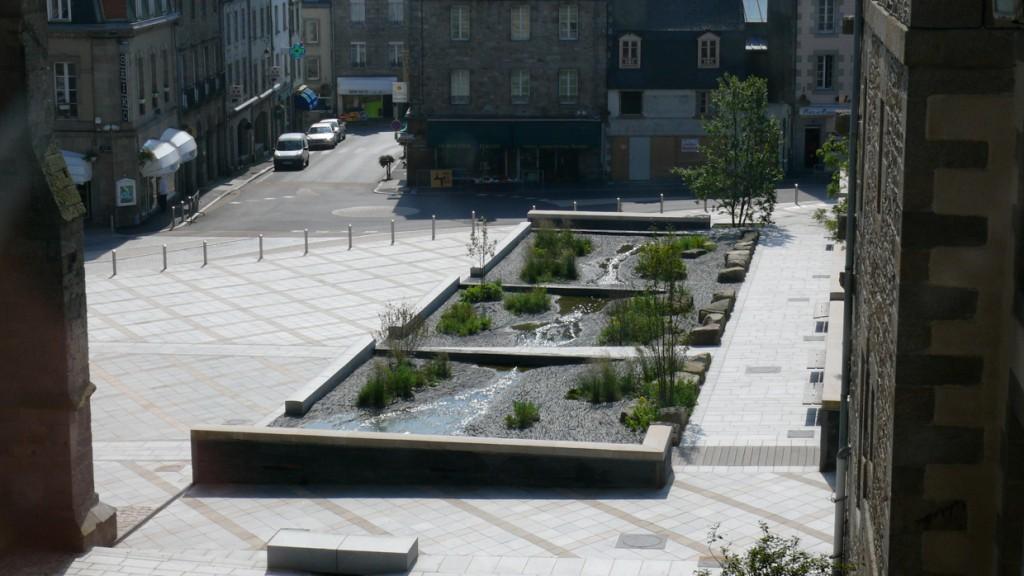 Place de l'Evêché, construction, 2003