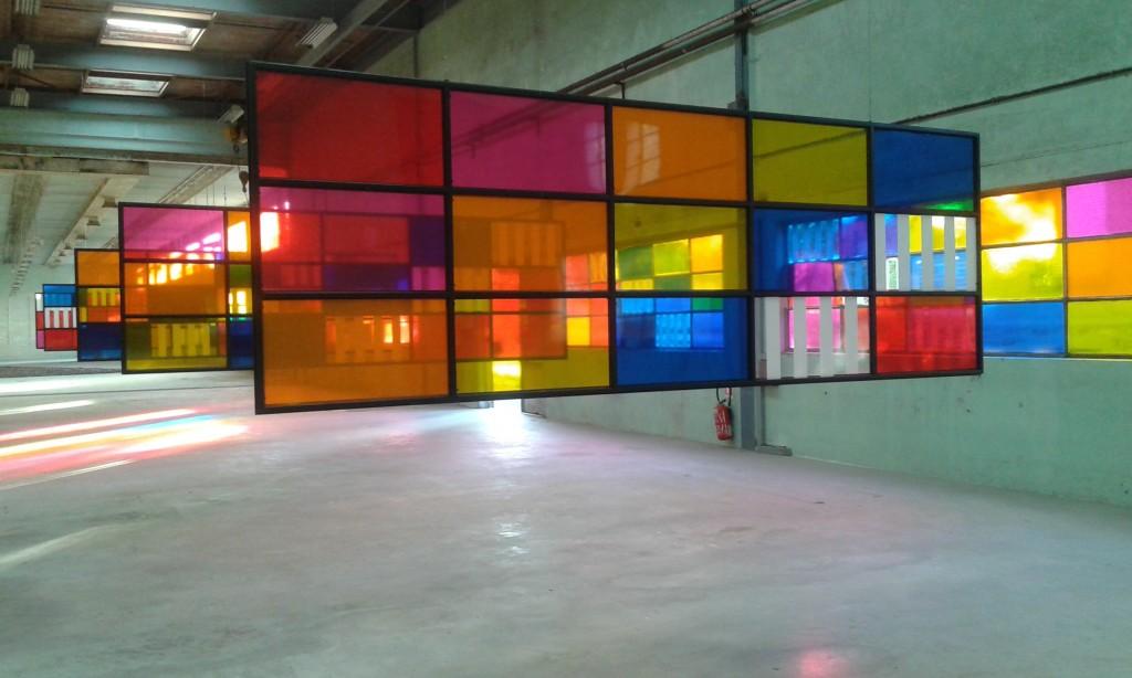 Daniel Buren at Galleria Continua Le Moulin, France