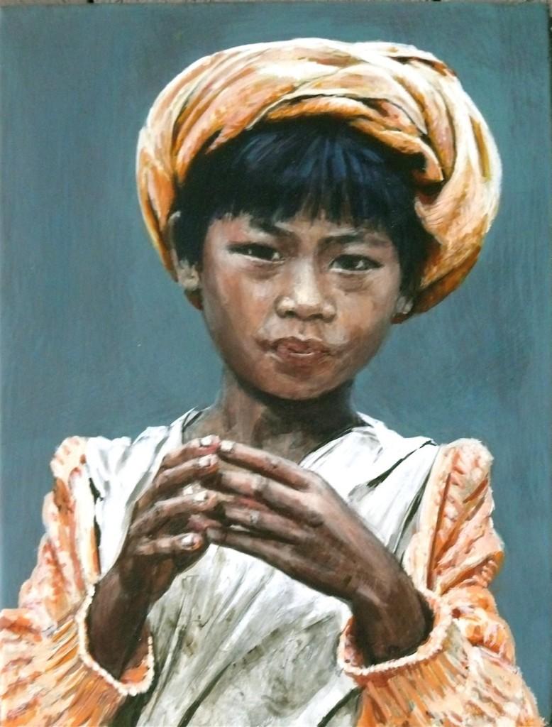 "Burmese Boy-Indein Market"", by Lili Nalŏvi, stolen"